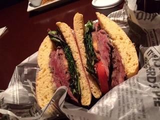 Vernon's Gastropub, steak sandwich