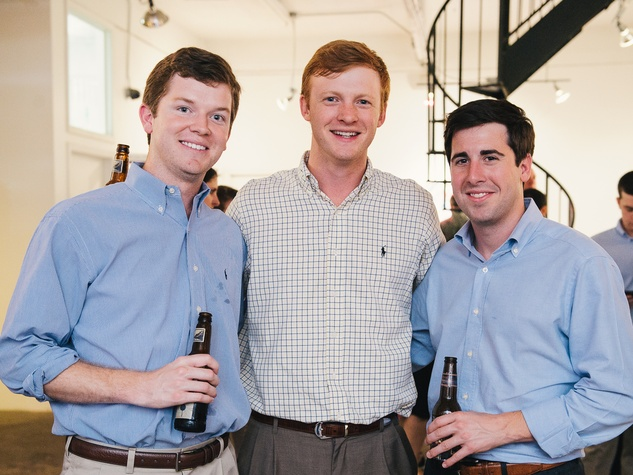 21 Ross Mizell, from left, Ian Idleman and Andrews Bryant at CultureMap's 2014 Tastemakers Awards May 2014