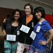 Winners at the Bad Pants Open kick-off party at Texas Children's Hospital