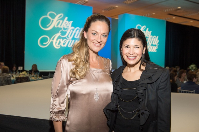 Rachel Riggin, left, and Kristy Bradshaw at the Nutcracker Market Saks luncheon and fashion show November 2014