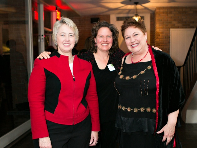 88 Mayor Annise Parker, from left, Shellye Arnold and Tina Sabuco at the Memorial Park Conservancy Gala February 2014