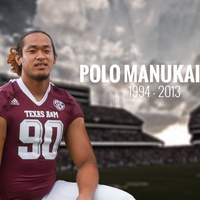 Polo Manukainiu Texas A&M football player obit photo