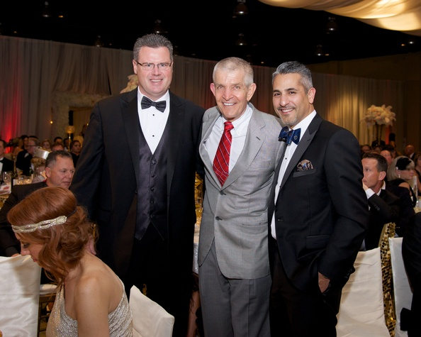 23 8609 Rick Doyle, from left, Jim McIngvale and Lonny Soza at the American Heart Association's Montgomery County Heart Ball February 2015