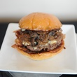 Texans tasting September 2014 hamburger burger with grilled onions