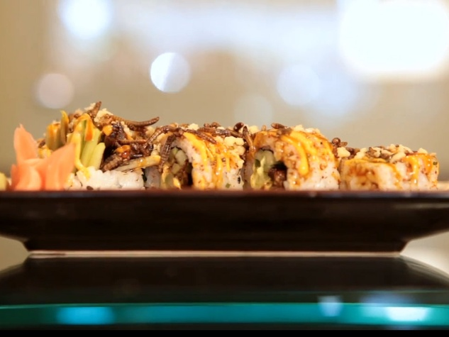 the Spicy Insectopia Roll at How Do You Roll? sushi by Chef Peter Yung