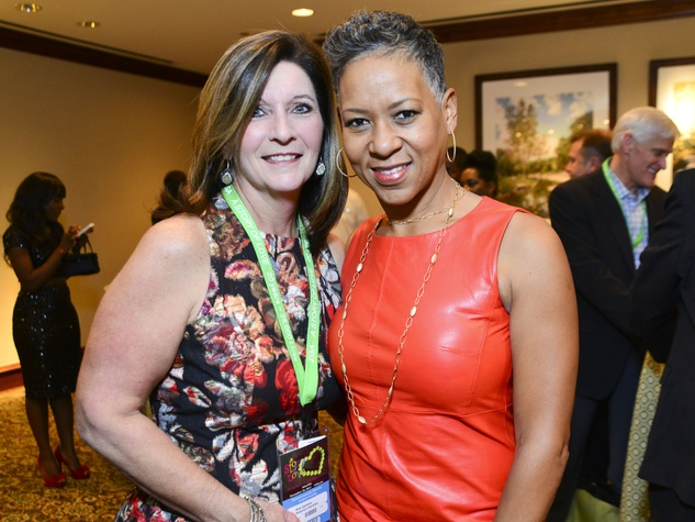 4 Shannon Gardner, left, and Katrina Adams at the Zina Garrison Academy's 20th Anniversary Gala November 2013