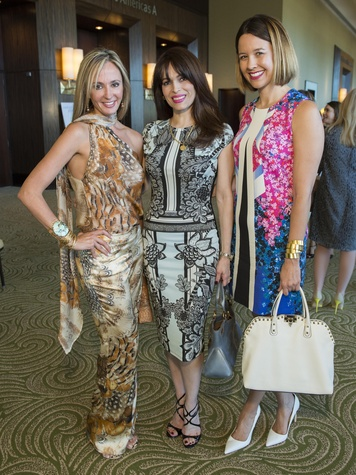 1 Cindy Garza Farmer, from left, Karina Barbieri and Carrie Colbert at the Latin Womens Initiative May 2014