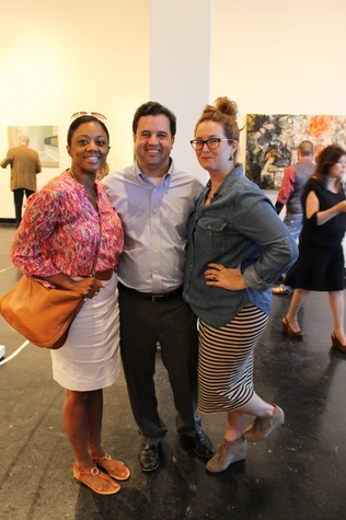 Denise Furlough, from left, with Joey and Nicole Romano at the Lawndale Big Show preview party July 2014