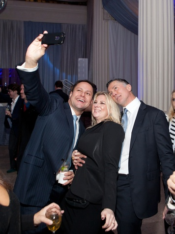 9 David Solis, from left, Libby Cagle and Gregory Fourticq Jr. at the Night Circus party January 2014