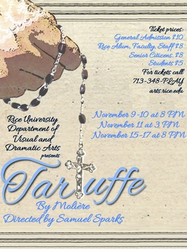 Rice Theatre to present Tartuffe