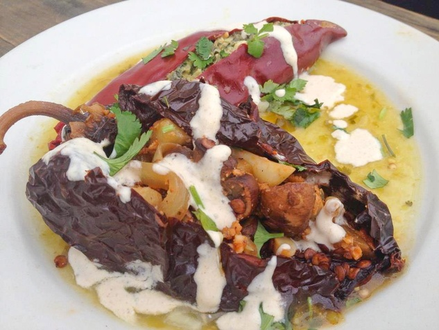 Radical Eats brunch dish stuffed chiles