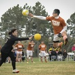 Texas Quidditch player jumping in World Cup VII championship in Myrtle Beach