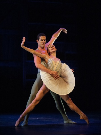 Nancy, Houston at the Pillow, August 2012, Victoria Jaiani and Miguel Angel Blanco of The Joffrey Ballet in Son of Chamber Symphony