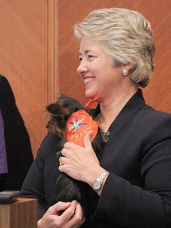 Mayor Annise Parker, BARC, puppy, Rachael Ray challenge, August 2012