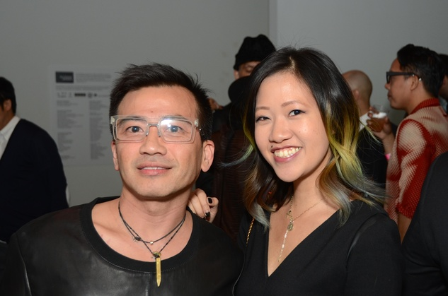 08 Viet Hoang and Issa Chou at the DiverseWorks Fashion Fete November 2014
