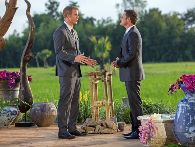 Sean Lowe and Chris Harrison of The Bachelor