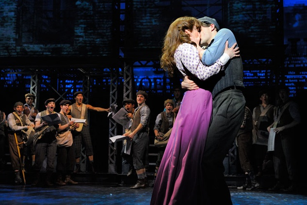Stephanie Styles and Dan DeLuca in Newsies
