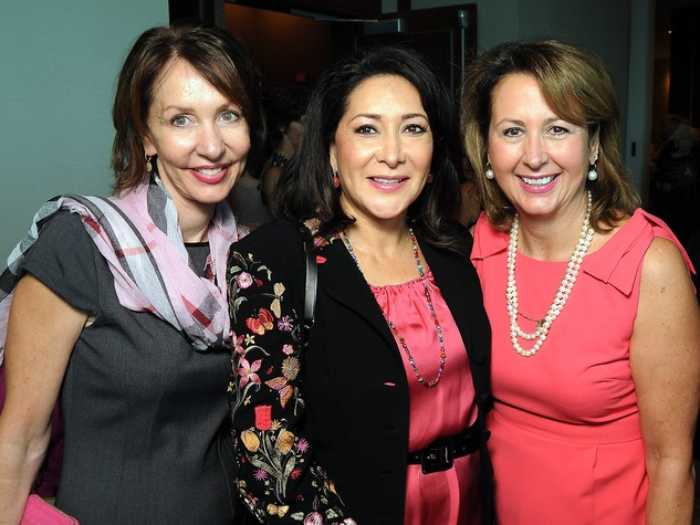 Susie Distefano, from left, Renee Reimer and Ileana Trevino at the Memorial Hermann Razzle Dazzle Pink Luncheon October 2013