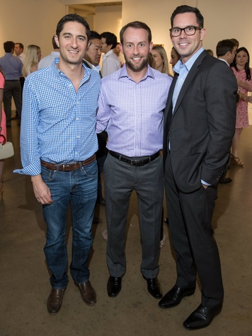 Jonathan Ben-Horin, Robert Ivey, Junior Associates co-chairman, Chad Bieber, affair of the art kickoff