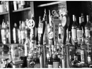 Beer taps at BarBelmont in Dallas
