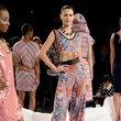 Fashion Week spring 2014 Czar by Cesar Galindo bold print Photo by Noam Galai Getty Images for Mercedes-Benz