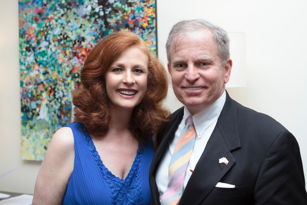 Jana Phillips and Bob Bennett at the Opera in the Heights reception April 2014