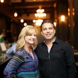 Kim Padgett and Robert Tijerina at the Springbok restaurant kick-off party July 2014