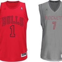 Houston Rockets, Chicago Bulls, Christmas Day jerseys, December 2012
