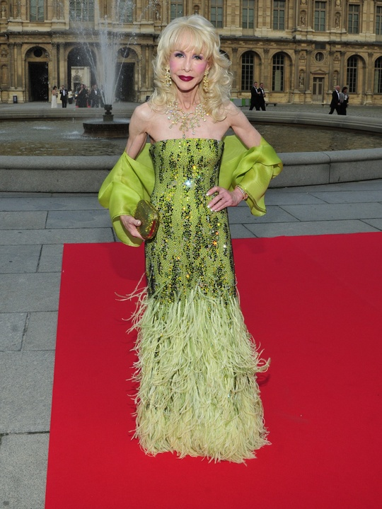 Louvre gowns Diane Lokey Farb in Armani Prive haute couture June 2013