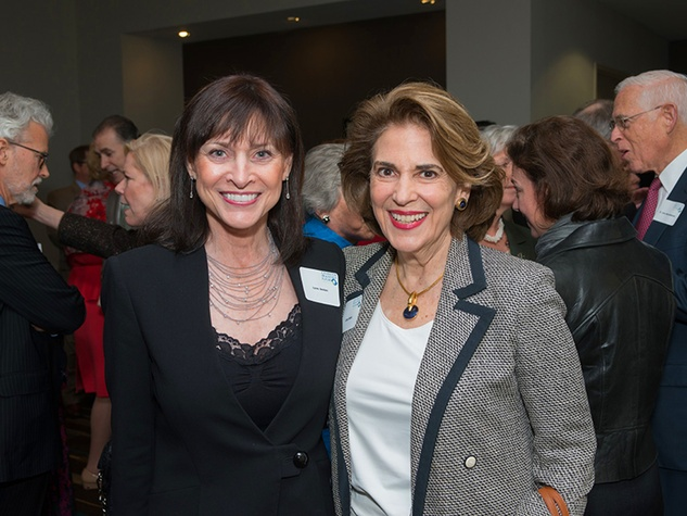 3 Lynne Bentsen, left, and Lois Stark at the Future of Leadership luncheon April 2014