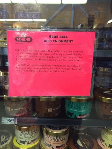 Blue Bell at H-E-B