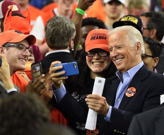 Joe Biden at Final Four game Syracuse vs. North Carolina