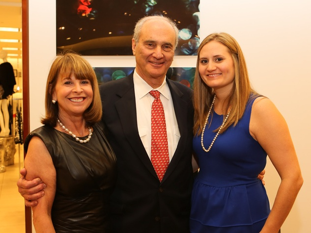 12 Susan and Walter Pye, from left, with Emily Wardell at Saks' Key to the Cure October 2013