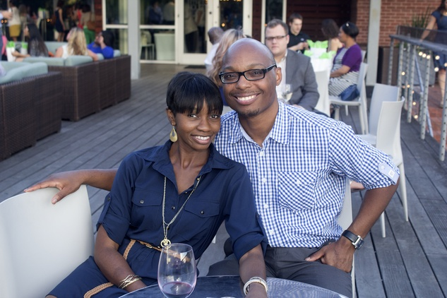 Reggie and Sloane Young at the f.r.e.s.h. new young professionals group party june 2014.