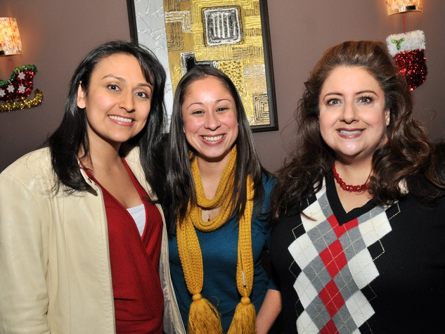 1, Hispanic Advisory Board party, December 2012, Jessica Michan, Lauren Soliz, Sonia Soto