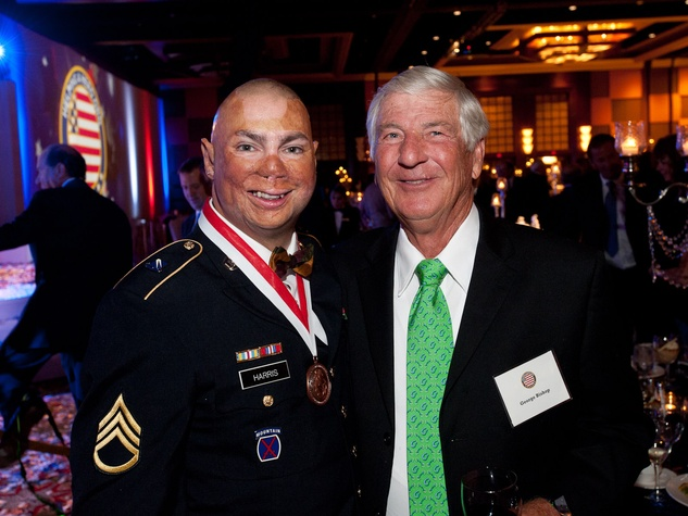 Helping a Hero.org gala, October 2012, Staff Sgt. Shilo Harris, George Bishop