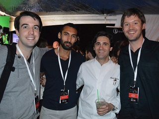 SXSW, Forbes 30 Under party, March 2013, Patrick Walsh, from left, Sam Chaudhary, Grant Gordon and Mat Morgan
