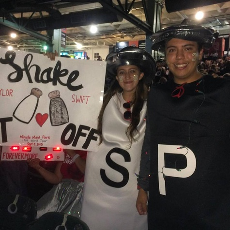 Taylor Swift fans at Minute Maid Park