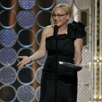Patricia Arquette at the 2015 Golden Globe Awards