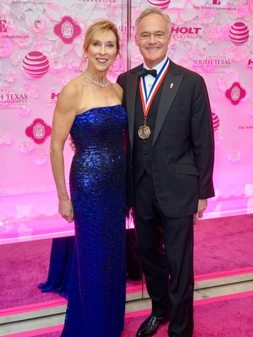 Texas Medal of Arts Awards Jane Pelley Scott Pelley