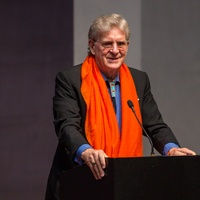 Robert Thurman at Love Your Enemies seminar with Robert Thurman at Rothko Chapel October 2014