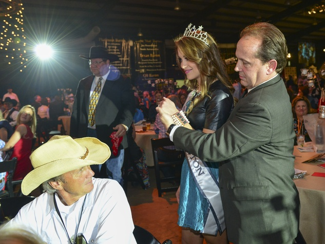 14 Miss Houston Kenda Carroll and Franco Valobra at the Cattle Barons Ball April 2014