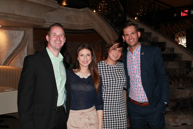 Adam Greer, from left, Heidi Castaneda, Audrey Luttmann and Stephen Morgan at the Friends of St. Jude Spring Happy Hour March 2015
