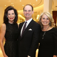 1 Betty and John Hrncir, from left, with Denise Monteleone at Saks' Key to the Cure October 2013