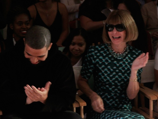 Drake and Anna Wintour laugh at HSN Serena Williams Signature fashion show