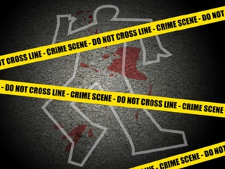 crime scene crime tape body chalk outline