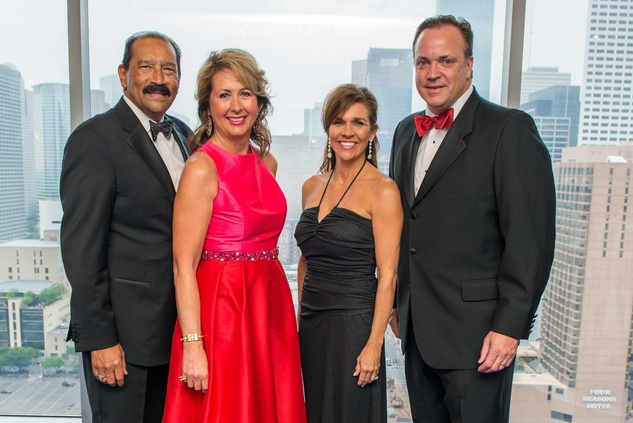 Michael and Ileana Trevino, from left, and Janice and Tad Brown at the Circle of Life Gala April 2015
