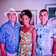 16 Ben Sachs, from left, Aiesha Maxwell and Jeff Schmidt at A Night in Havana July 2014