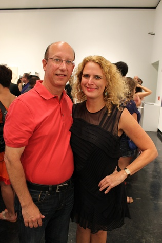 Brian James and Catherine Callaway at the Lawndale Big Show preview party July 2014