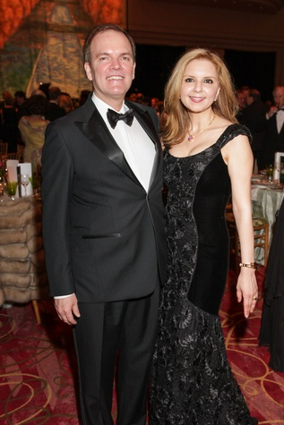 Dr. Alan Bentz, Sallymoon Benz, Moores School gala, March 2014
